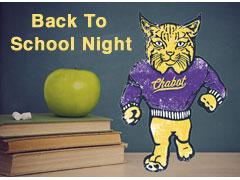 Back To School Night is Thursday September 8